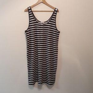 Gap **New** Dress Black/Grey-White Stripe